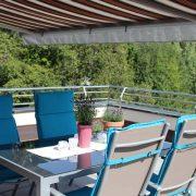 Das ist unsere schöne Dachterrasse Ihrer 70qm Ferienwohnung