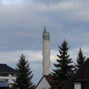 Der Blick zum thyssenkrupp Testturm in Rottweil vom Ferienhaus ELLA aus