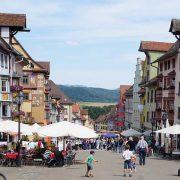 Die Fußgängerzone in der Rottweiler Altstadt